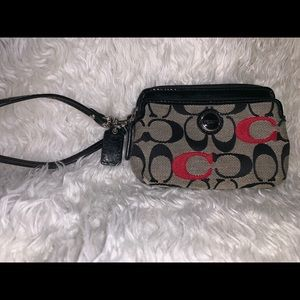 Coach Wristlet wallet Coin Purse Small.